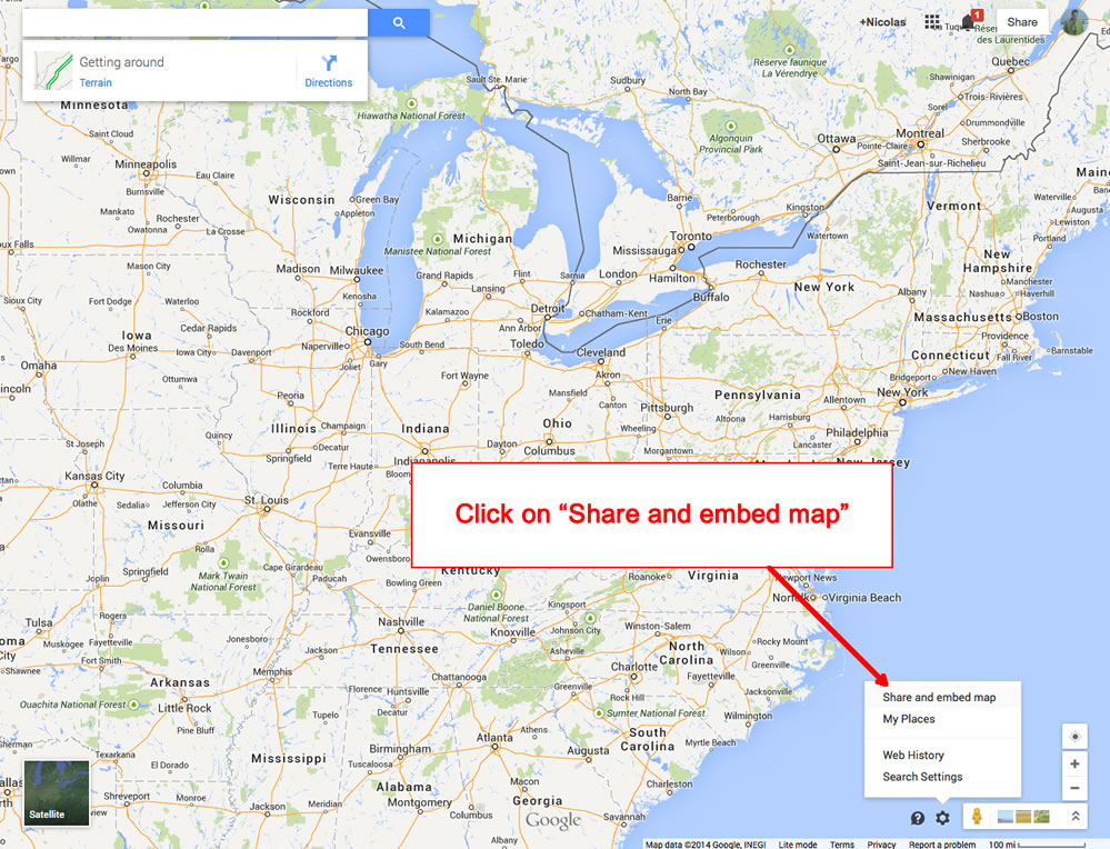 Manual how to obtain the url of my google map gumiabroncs Image collections