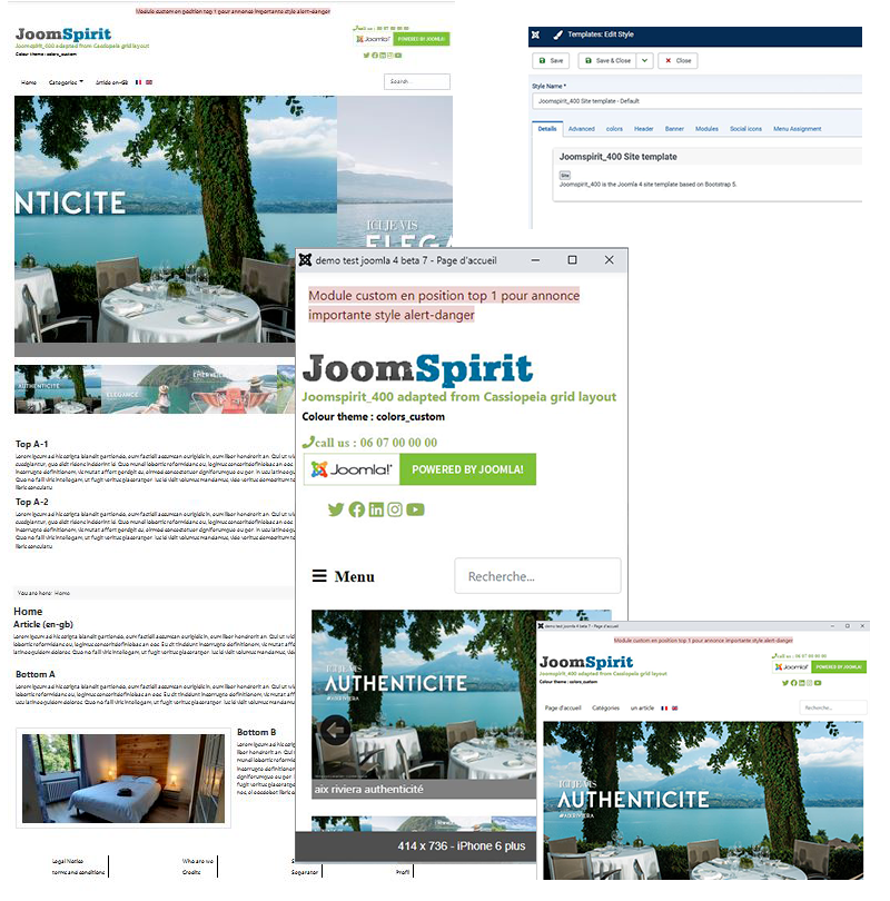 template joomspirit 400 preview