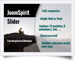 free responsive slideshow for Joomla