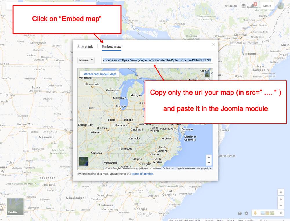 Module Google map
